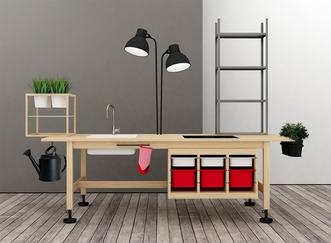 cr er des meubles de bureau en combinant des meubles ikea. Black Bedroom Furniture Sets. Home Design Ideas