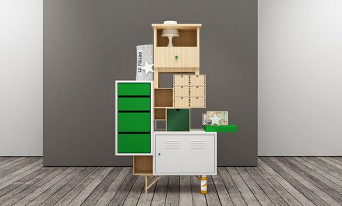 cr er des meubles de bureau en combinant des meubles ikea. Black Bedroom Furniture Sets. Home Design Ideas