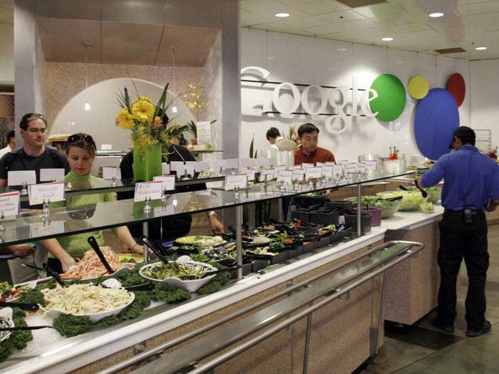 déjeuner gratuit dans le bureau de Mountain View