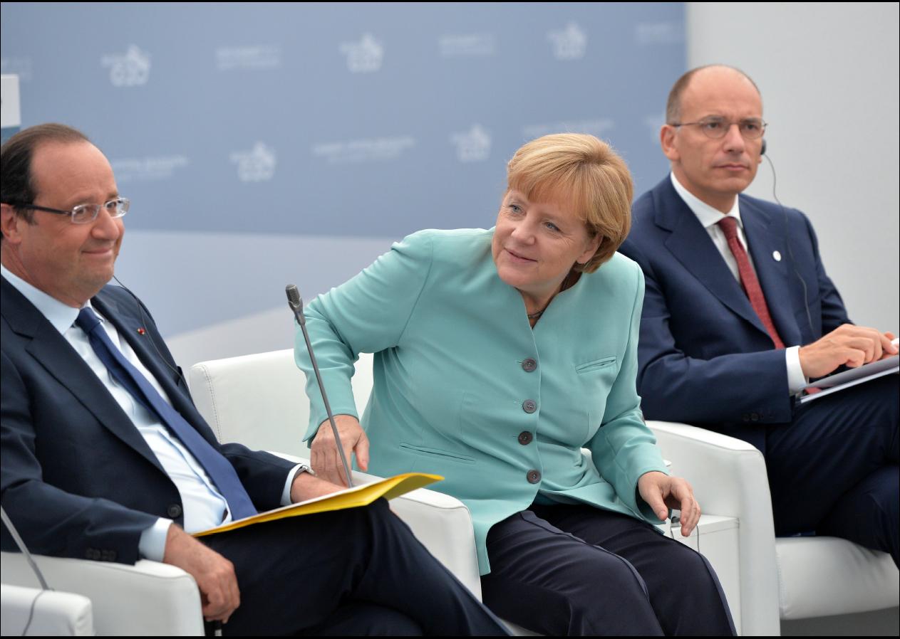 Hollande-Merkel-Letta au G-20-2013