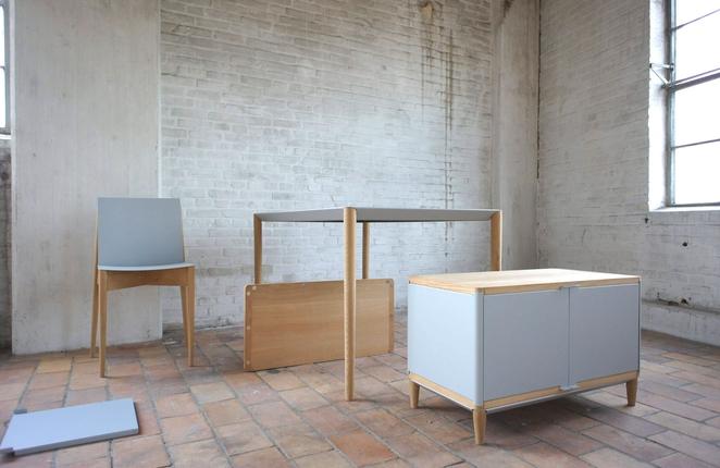 des meubles de bureau monter fix s avec des aimants. Black Bedroom Furniture Sets. Home Design Ideas