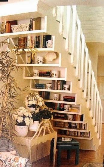 Escalier librairie