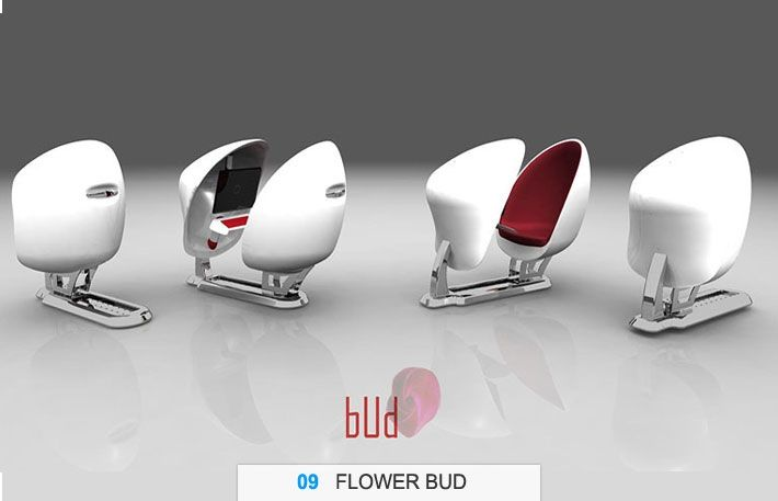 chaise flower bud