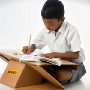 bureau portable en carton